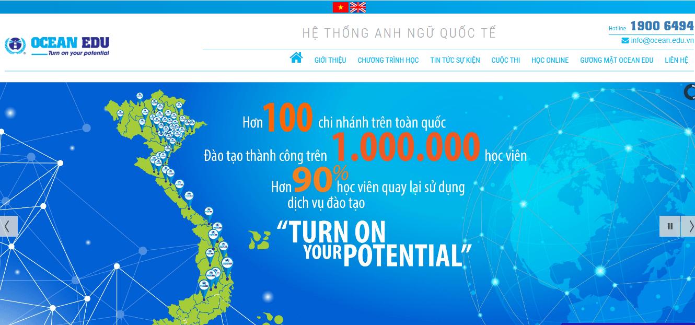 thiết kế website trung tâm ngoại ngữ