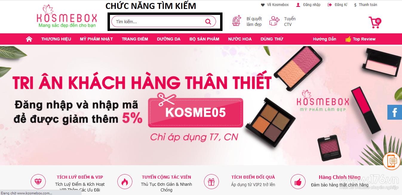 Thiết kế website mỹ phẩm Quảng Ngãi