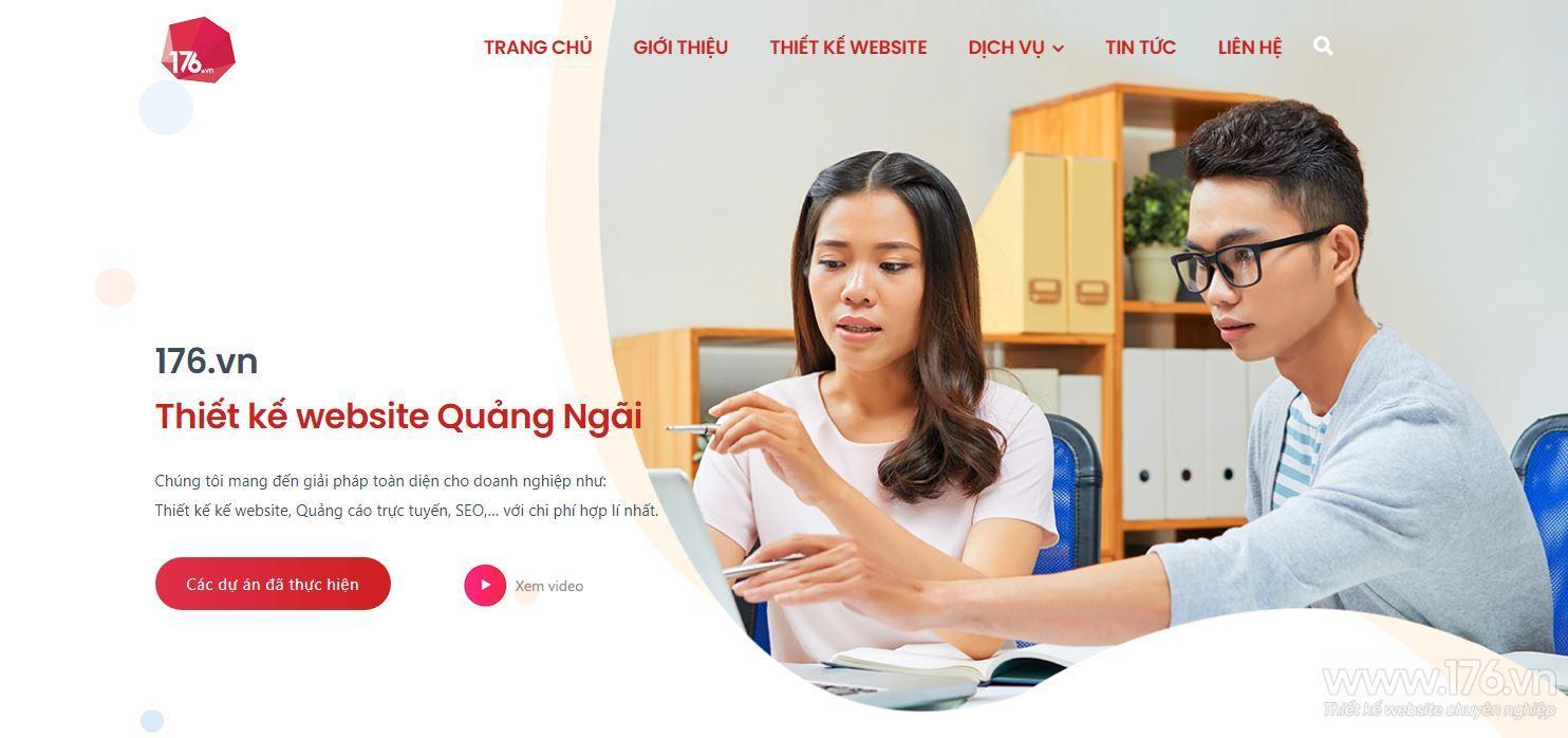 Dịch vụ thiết kế website Quảng Ngãi chuyên nghiệp