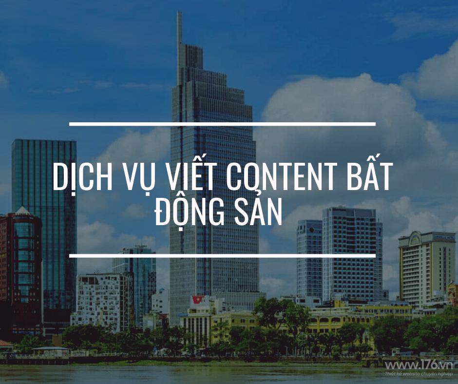 content marketing bất động sản
