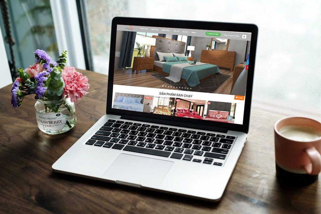 thiết kế website chăn ga gối đệm
