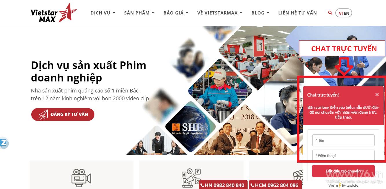 thiết kế website công ty truyền thông Quảng Ngãi