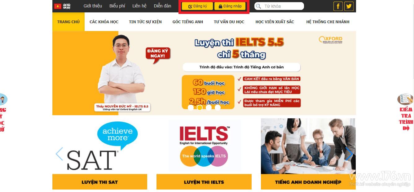 Thiết kế website giáo dục Quảng Ngãi