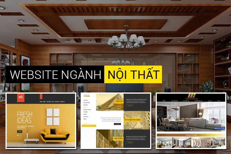 thiết kế website nội thất Quảng Ngãi