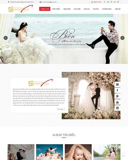 thiết kế website studio Quảng Ngãi