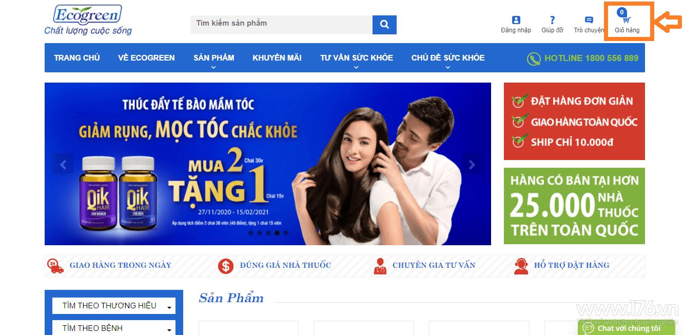 Thiết kế website thực phẩm chức năng Quảng Ngãi