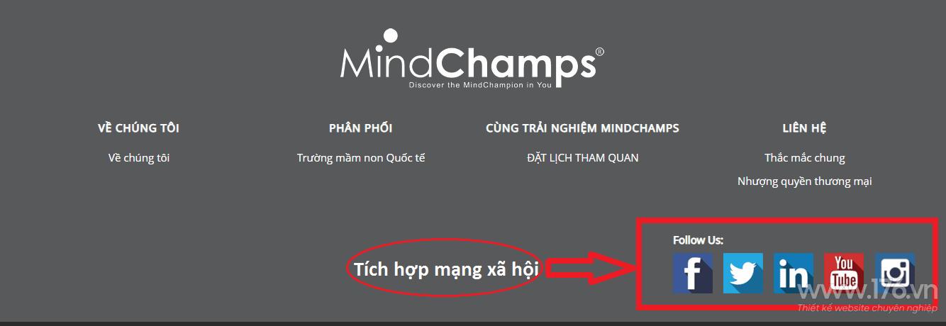 Thiết kế website trường mầm non