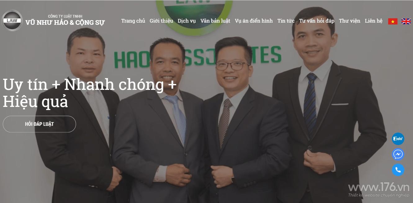 thiết kế website văn phòng luật sư Quảng Ngãi