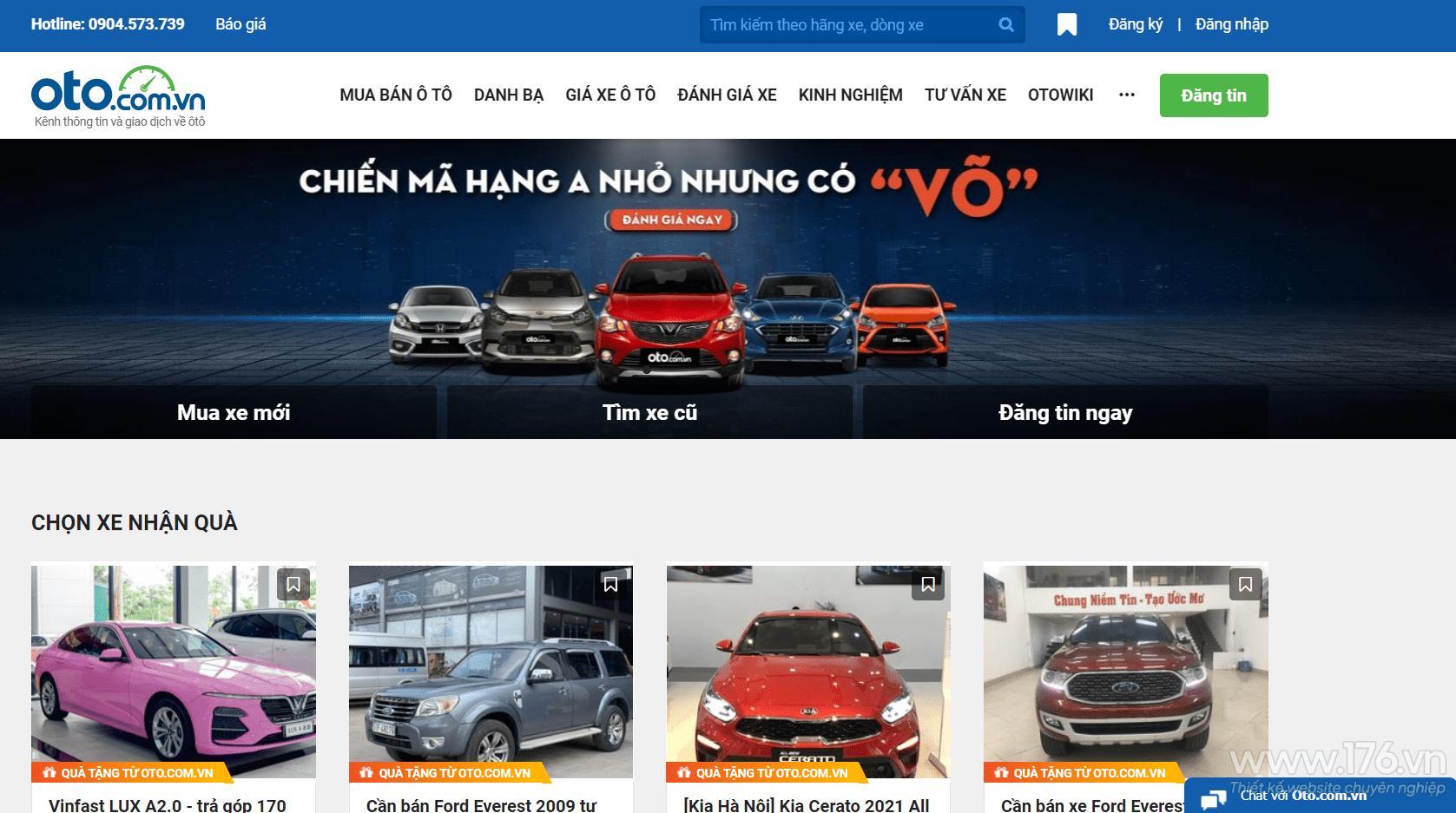 website ban o to quang ngai