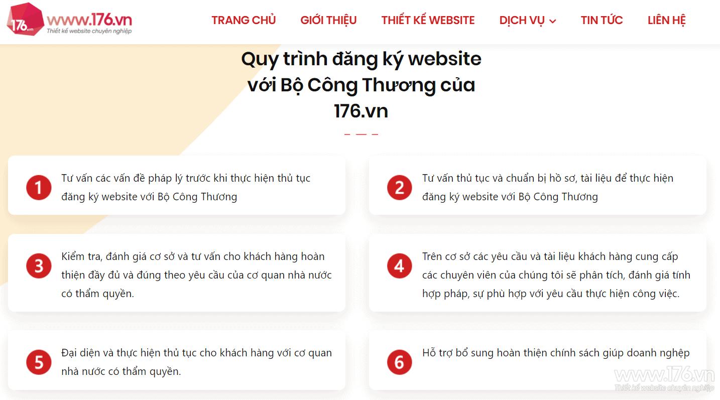 quy trinh dang ky website voi bo cong thuong