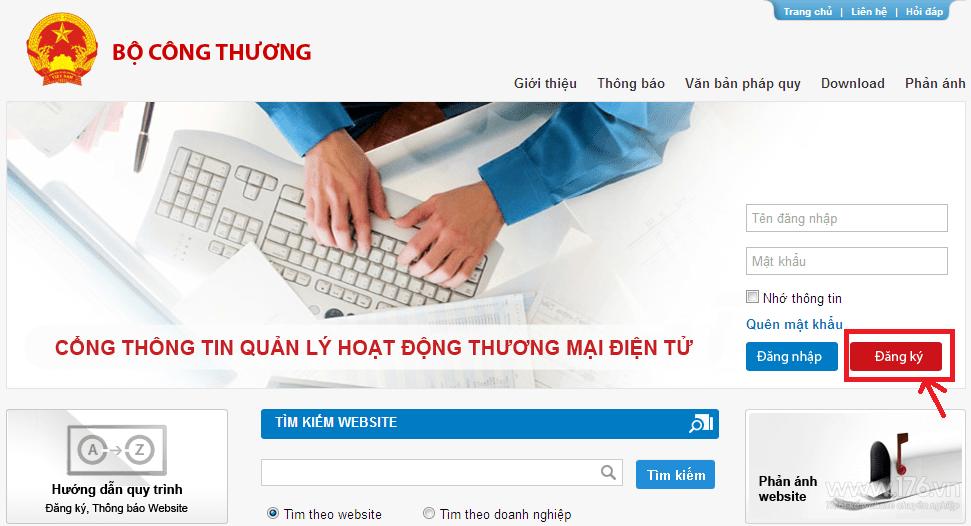 dang ky website voi bo cong thuong o quang ngai